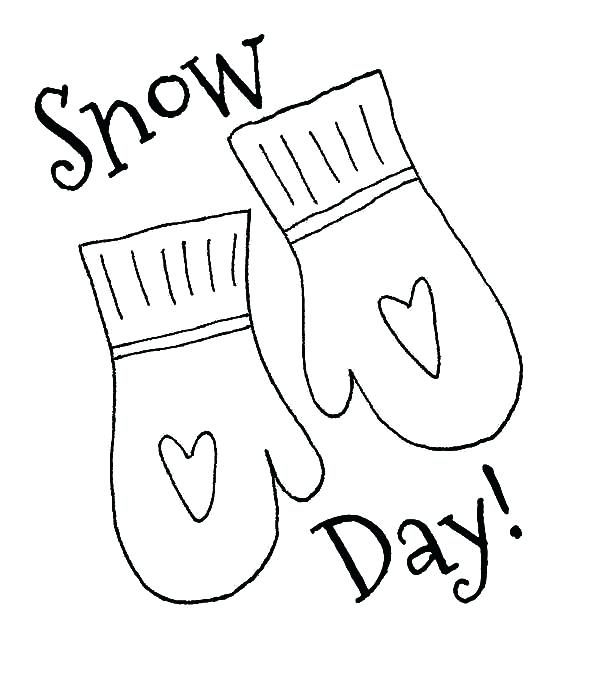 600x684 Snow Coloring Pages Mittens For Snow Day Coloring Pages Snowflake