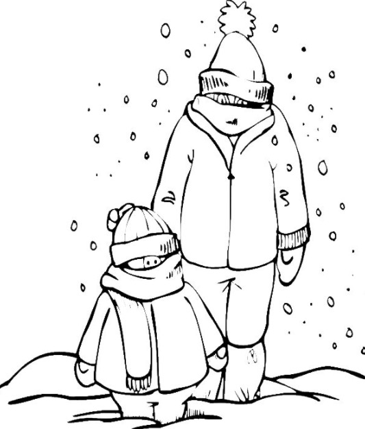 533x626 Snow Day Coloring Page Coloring Book