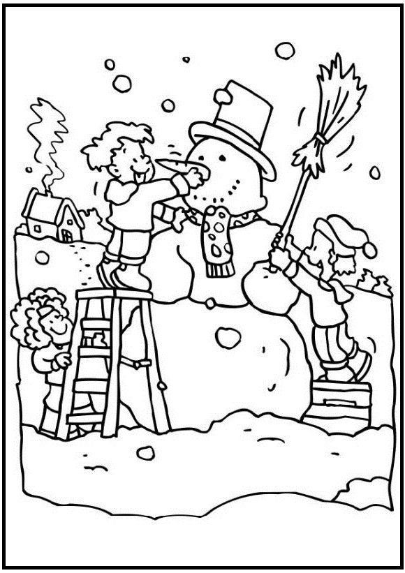 580x821 Best Winter Images On Coloring Pictures For Kids