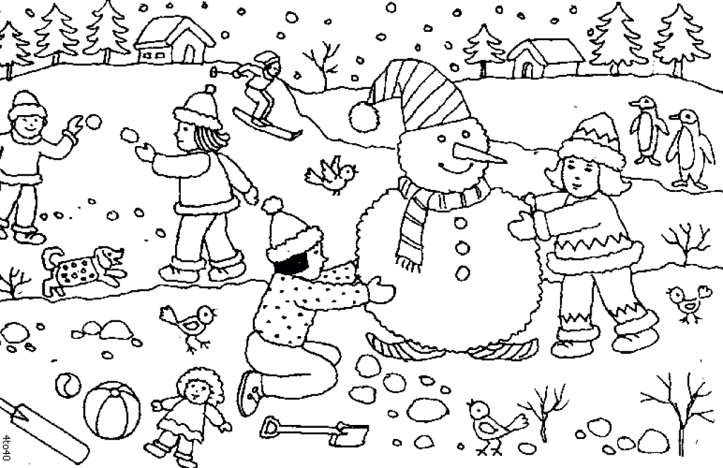 Snow Day Coloring Page at GetDrawings.com | Free for ...
