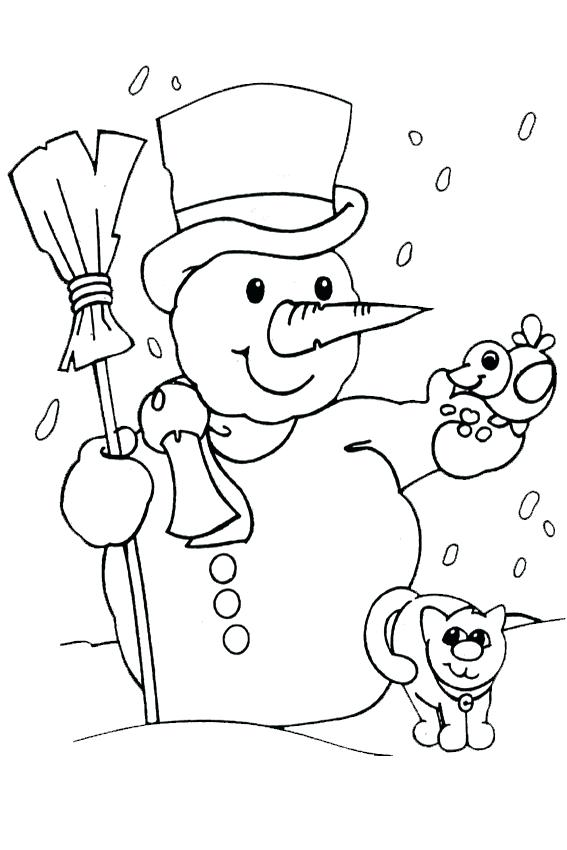 567x850 Snowy Day Coloring Page White Coloring Pages Of With Presents Snow