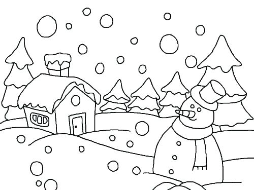 500x375 Snowy Day Coloring Snow Coloring Pages Snow Coloring Sheet Snowy