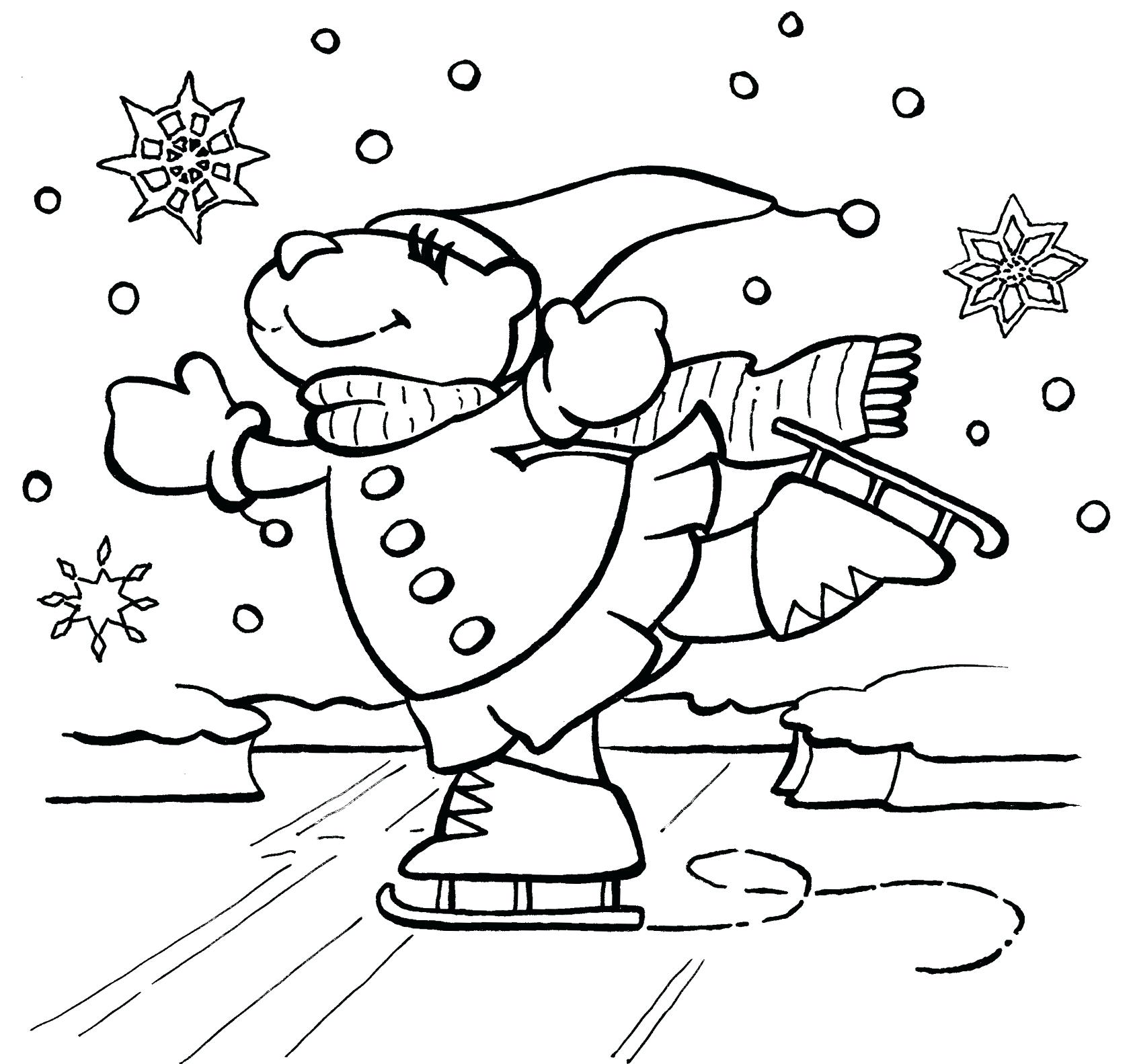 1685x1583 Free Winter Coloring Pages Page Interesting Snow Day Pictures