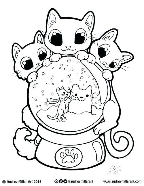 500x647 Globe Coloring Pages Globe Coloring Pages Kitty Snow Globe