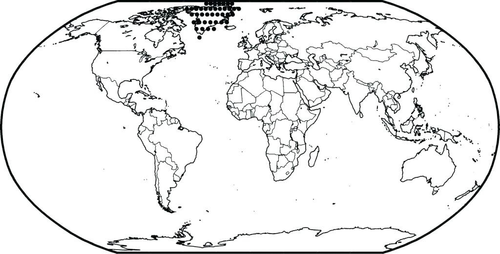 1024x521 World Globe Coloring Page Globe Coloring Blank Color World Map