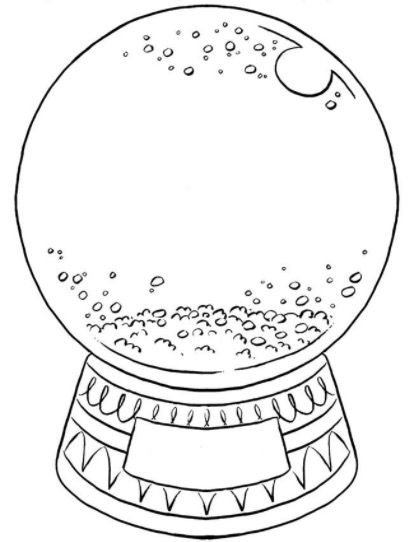 412x542 Create Your Own Snow Globe Coloring Page Dibujos Para Colorear
