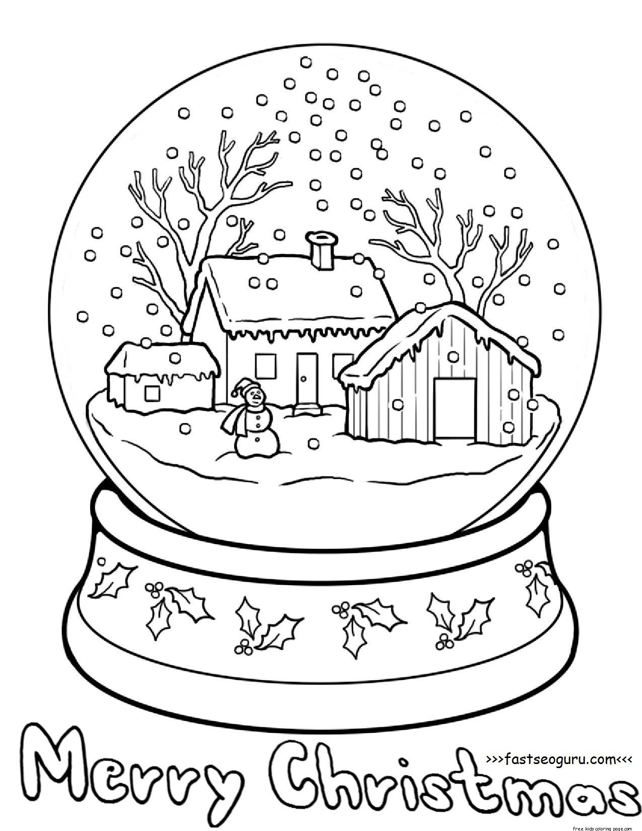 1275x1650 Globe Coloring Page