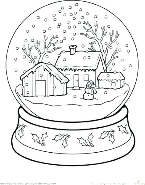 470x600 Globe Coloring Page Collection Snow Coloring Pages Snow Day Globe