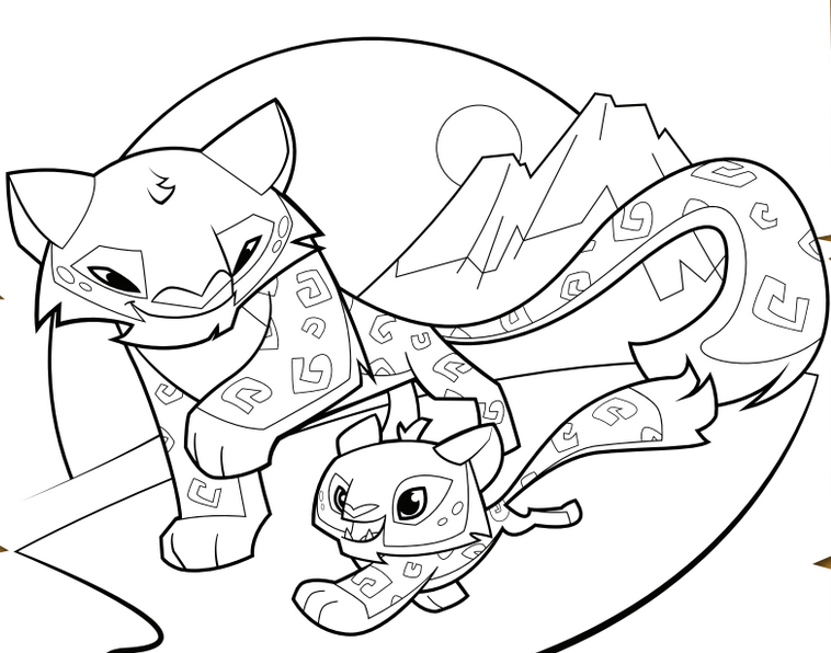 758x596 Image For Animal Jam Coloring Pages Snow Leopard Projects To Try