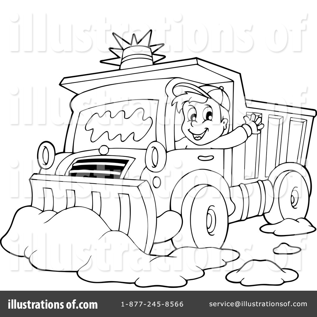 Snow Plow Coloring Page