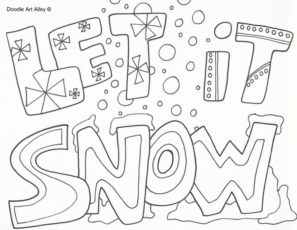 1024x791 Snow Coloring Sheets
