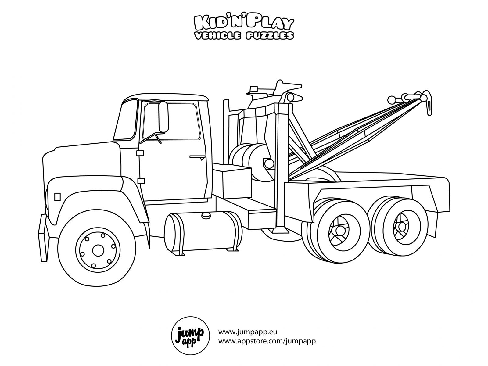 1600x1200 Snow Plow Coloring Page