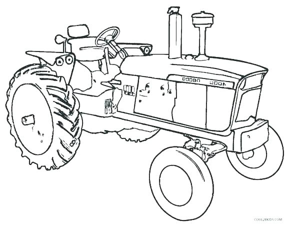 580x452 Tractor With Plow Coloring Pages Printable Snow Page For Kids