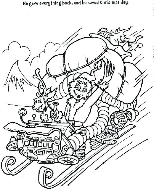 520x645 Unbelievable Fascinating Snow Plow Coloring Pages Print In Sleigh