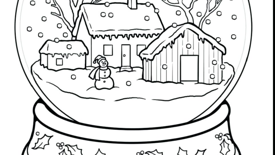 Snow Scene Coloring Page
