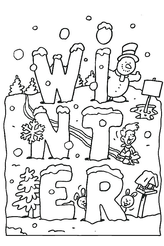 567x850 Snow Scene Coloring Pages Winter Scene Coloring Page Snow Scene
