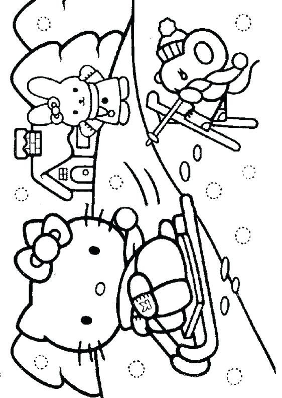 562x791 Winter Coloring Page Printable Winter Coloring Pages Snowman Free