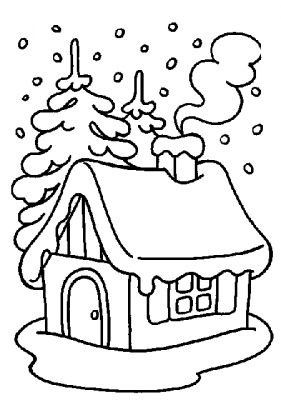 281x400 Winter Coloring Pages