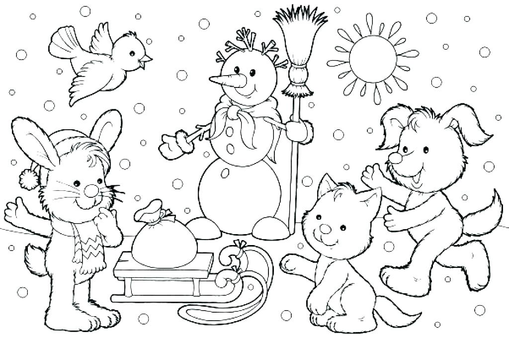1024x680 Winter Coloring Pictures Winter Colouring Pages Holiday Coloring
