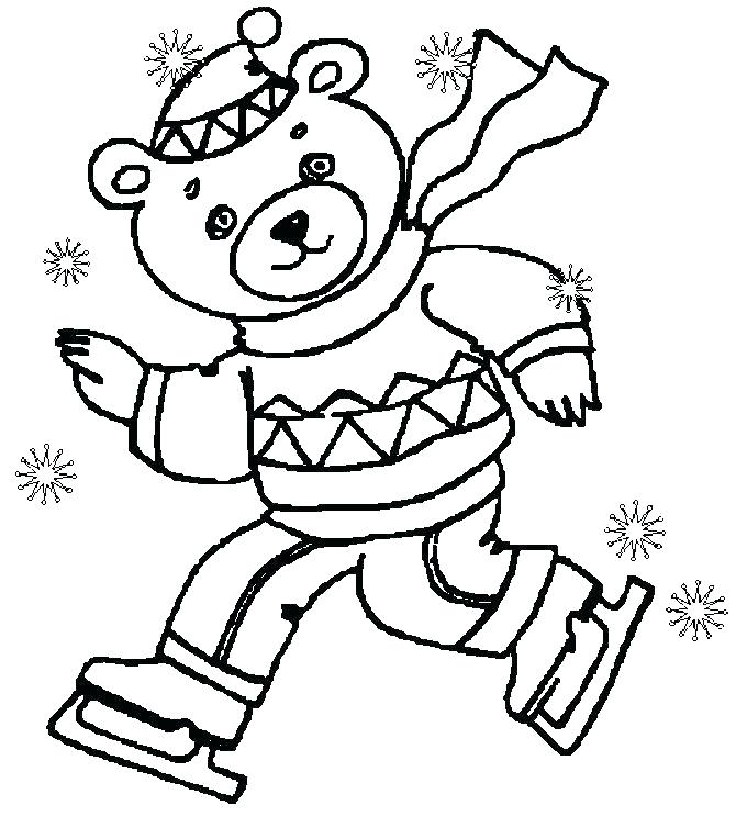 670x764 Winter Scene Coloring Pages Fresh Winter Coloring Pages Printable
