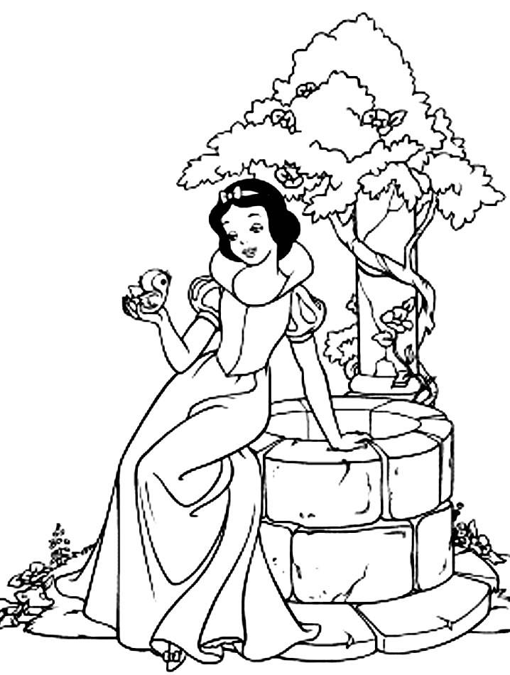 718x950 Coloring Pages Snow White And The Seven Dwarfs