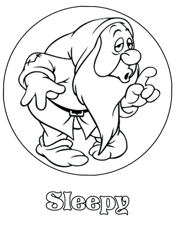 600x794 Snow White And The Seven Dwarfs Coloring Pages Dwarfs Coloring