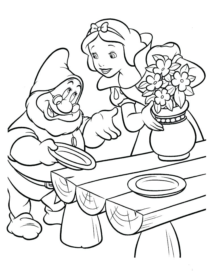 736x952 Dwarfs Coloring Pages Dwarfs Coloring Pages Snow White