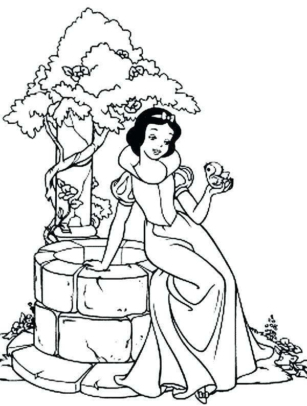 600x794 Snow White Coloring Pages Snow White With The Dwarfs Snow White
