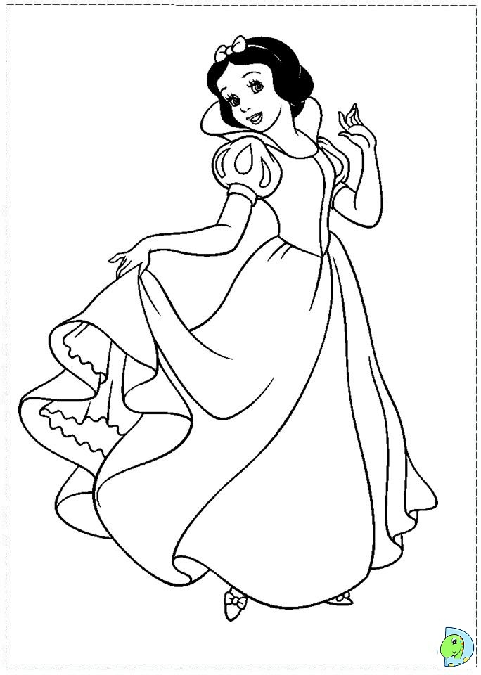 684x960 Snow White Coloring Page