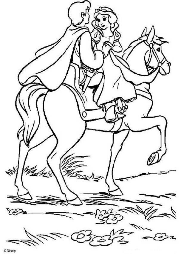 607x850 Snow White And The Seven Dwarfs Coloring Pages