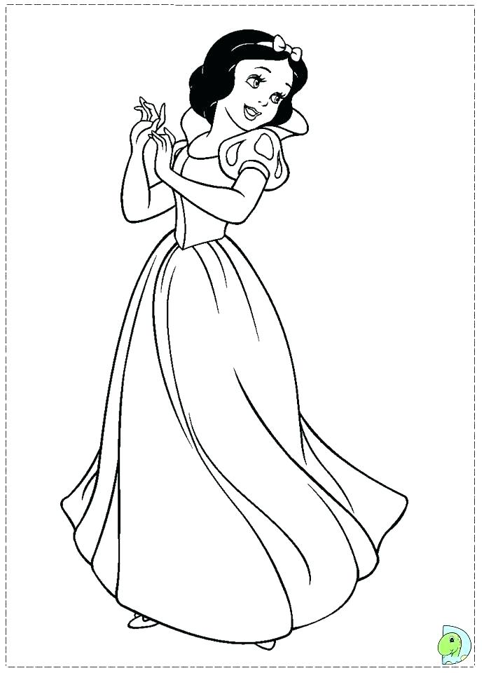 691x960 Coloring Pages Snow White Unique Free Ow White Coloring Pages Kids