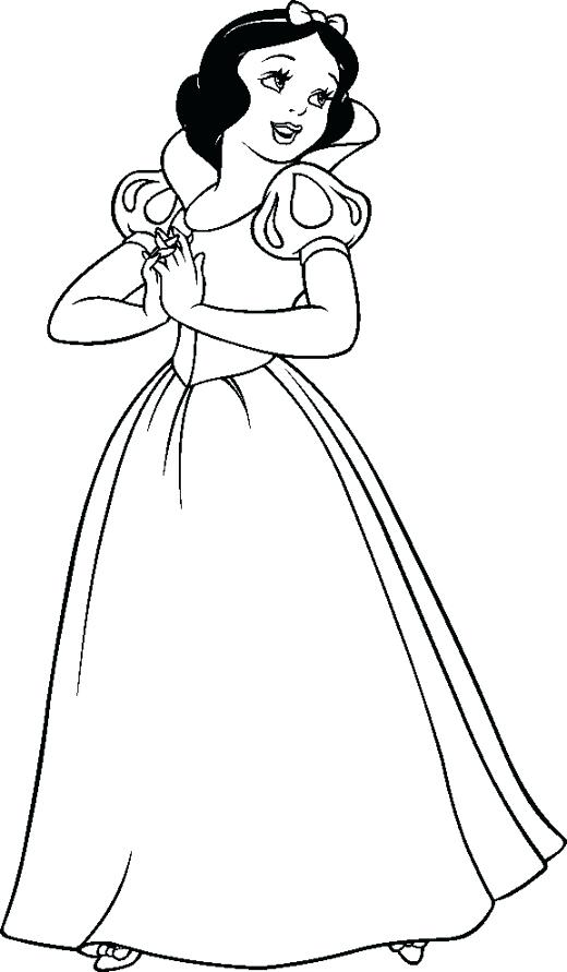 520x891 Snow White Coloring Page Snow White Coloring Pages Baby Snow White