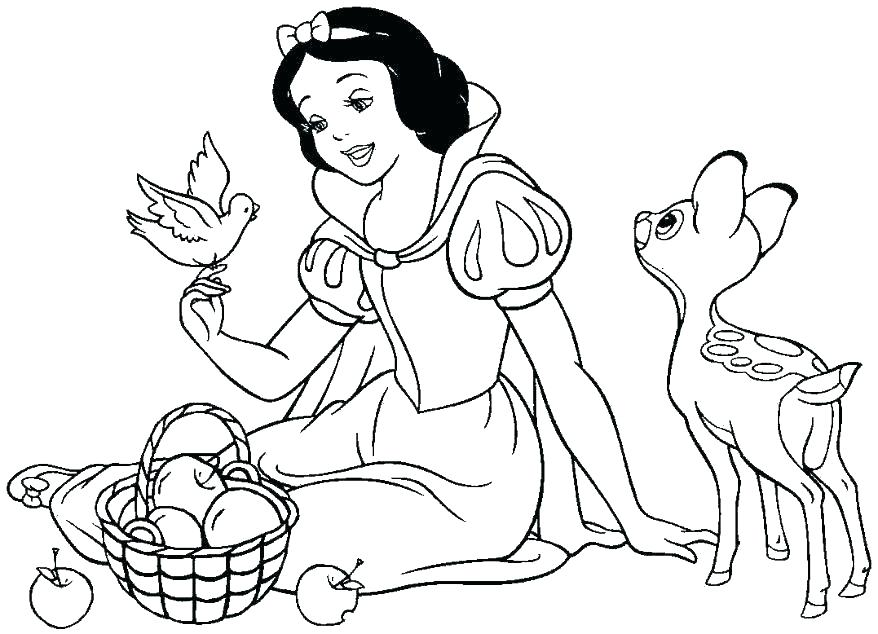 878x634 Snow White And The Seven Dwarfs Coloring Pages Dwarfs Coloring