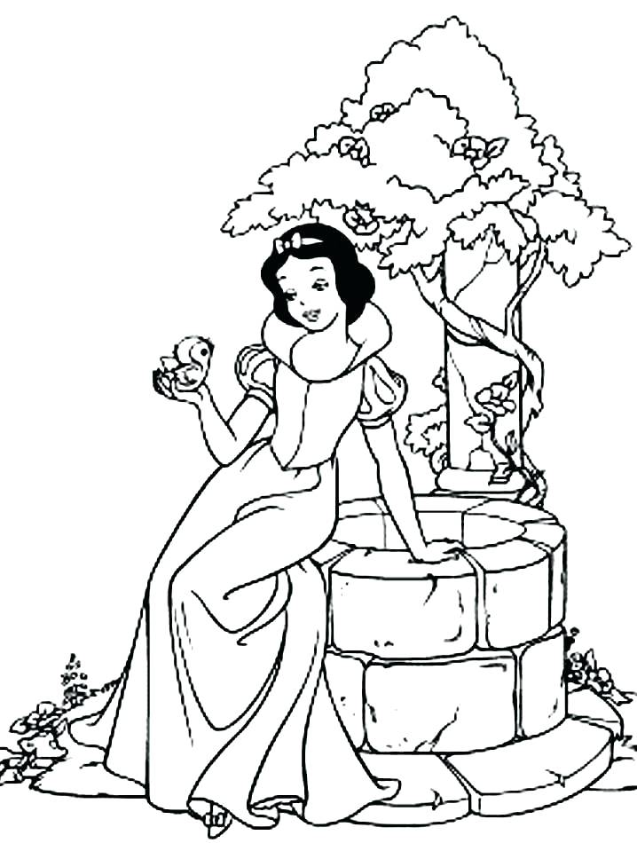 718x950 Coloring Pages Snow White