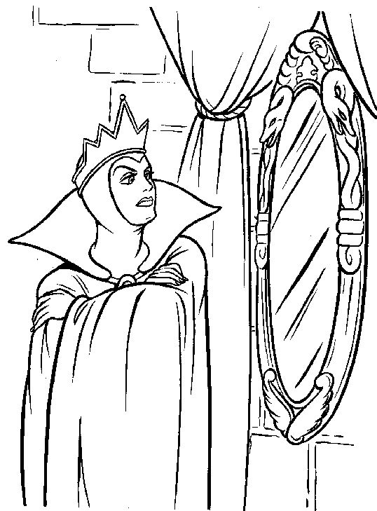 Snow White Queen Coloring Pages