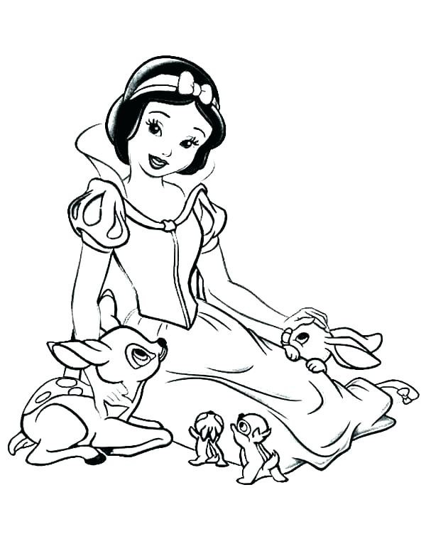 600x776 Coloring Snow White Snow White Coloring Page Free Printable