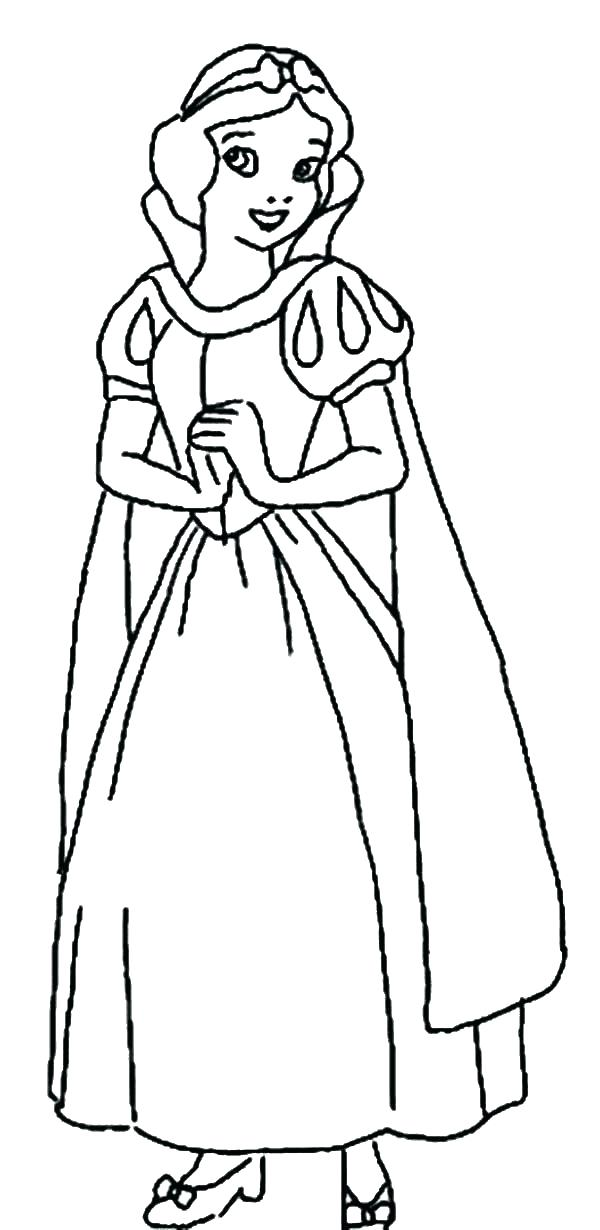 600x1230 Snow White Coloring Page Princess Snow White Coloring Page Snow