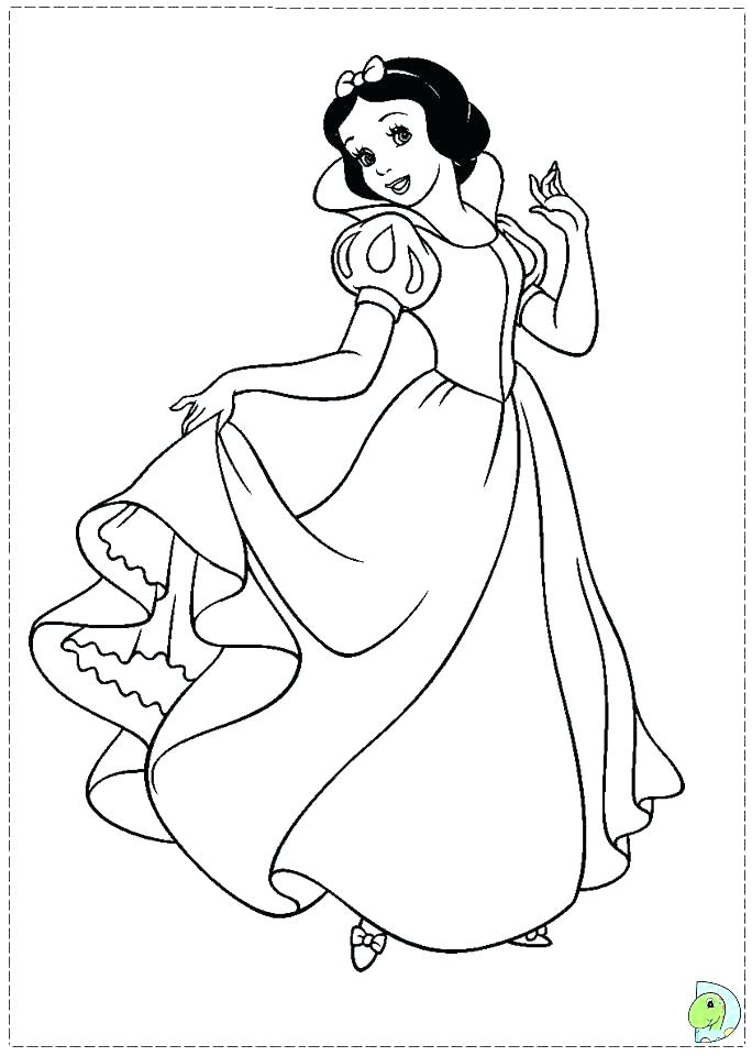684x960 Snow White Printable Coloring Pages