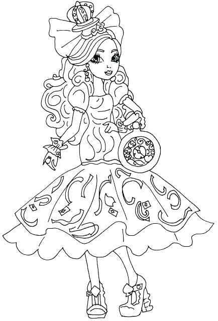 434x640 Apple White Coloring Pages Free Printable Ever After High Coloring