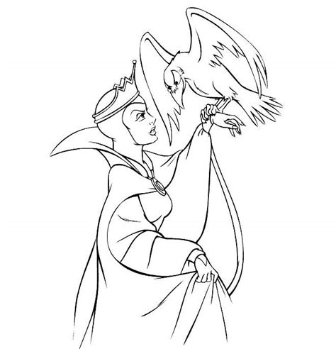 474x492 Snow White The Witch Coloring Page