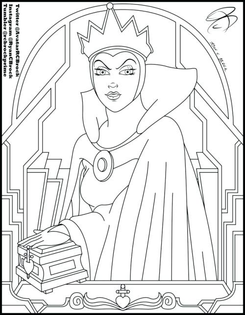 500x641 Exciting Snow White Coloring Pages