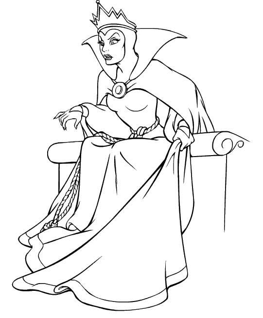 541x656 Snow White Evil Queen Coloring Pages Coloring Pages