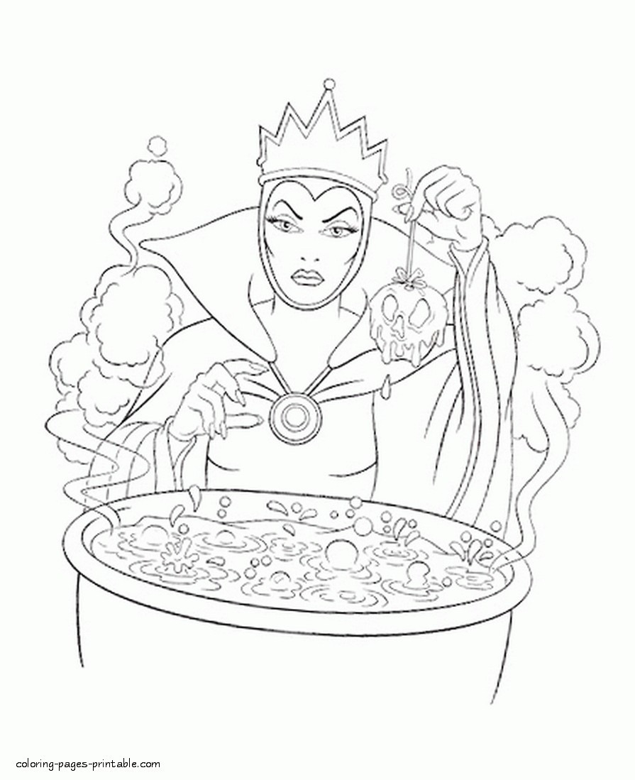 895x1099 Coloring Pages Of The Evil Queen Copy From Snow White