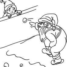220x220 Saint Nicholas Snowball Game Coloring Pages