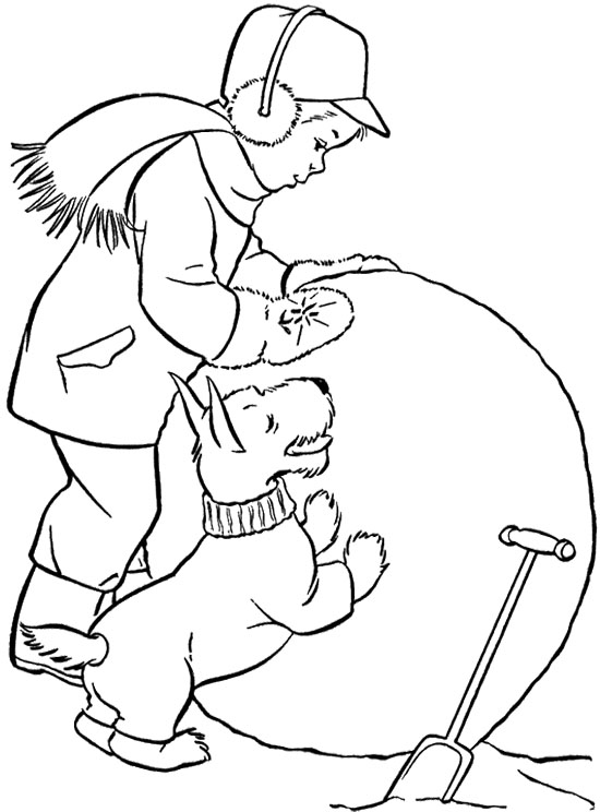 550x744 Scottie Big Snowball Coloring Page Zima Snowball