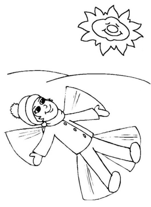 530x726 Snowball Fight Winter Coloring Pages
