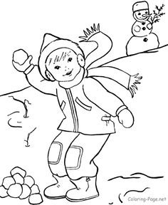 236x288 Winter Coloring Pictures