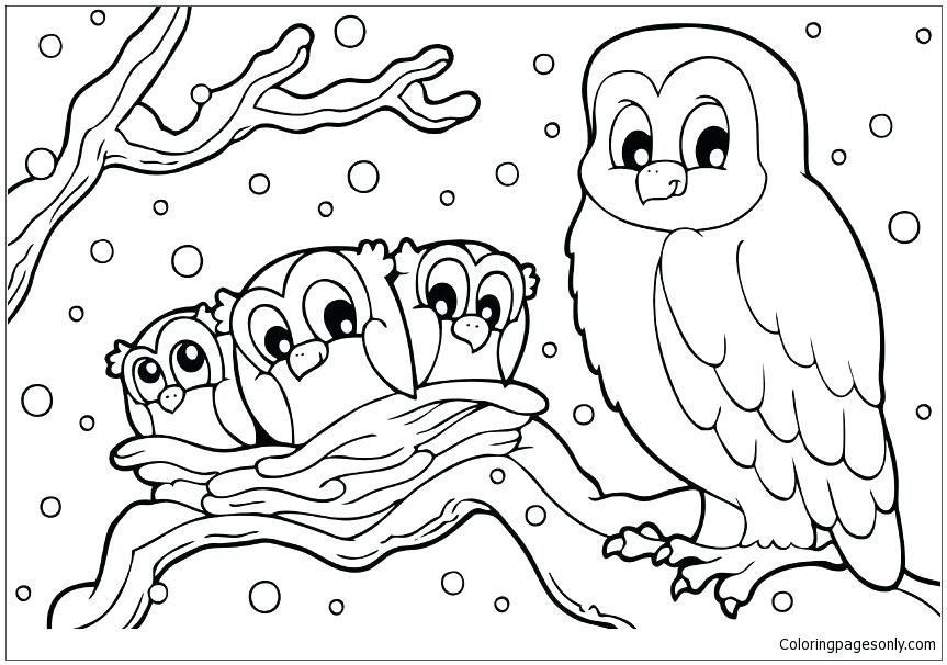 863x606 Coloring Pages For Kids Online Snowball Fight Winter A Snow