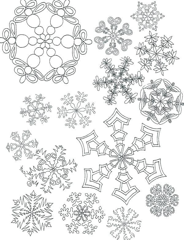 600x780 Printable Snowflake Coloring Pages Printable Snowflake Patterns
