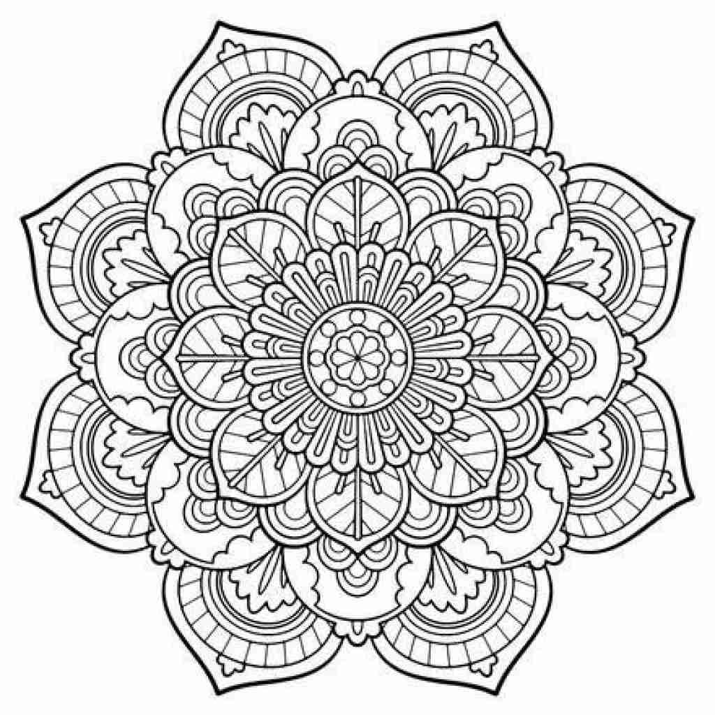 1024x1024 Free Printable Mandala Coloring Pages Large Transparent Png Fancy